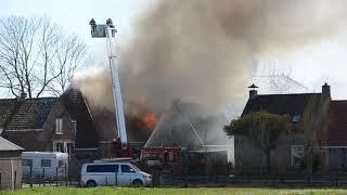 Woonboerderij St  Jacob verwoest door uitslaande brand