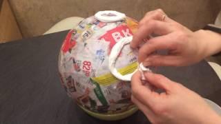 Как сделать макет Луны из папье-маше