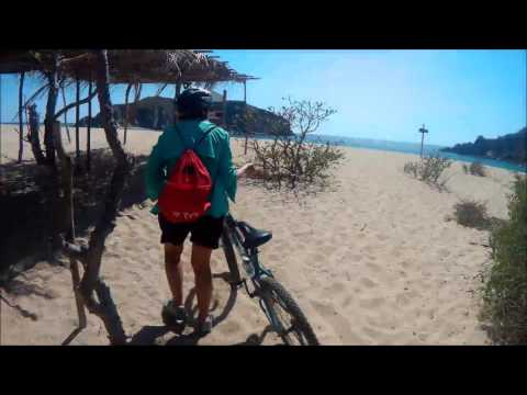 Bicycle to remote beaches of Huatulco Mexico