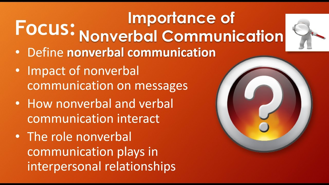 nonverbal messages in adverisements Non-verbal communication increases understanding of messages when verbal and nonverbal communication are similar, it establishes better perspective on the message being sent the sender of message as well as receiver gets what is the intended meaning of the message and can act accordingly.