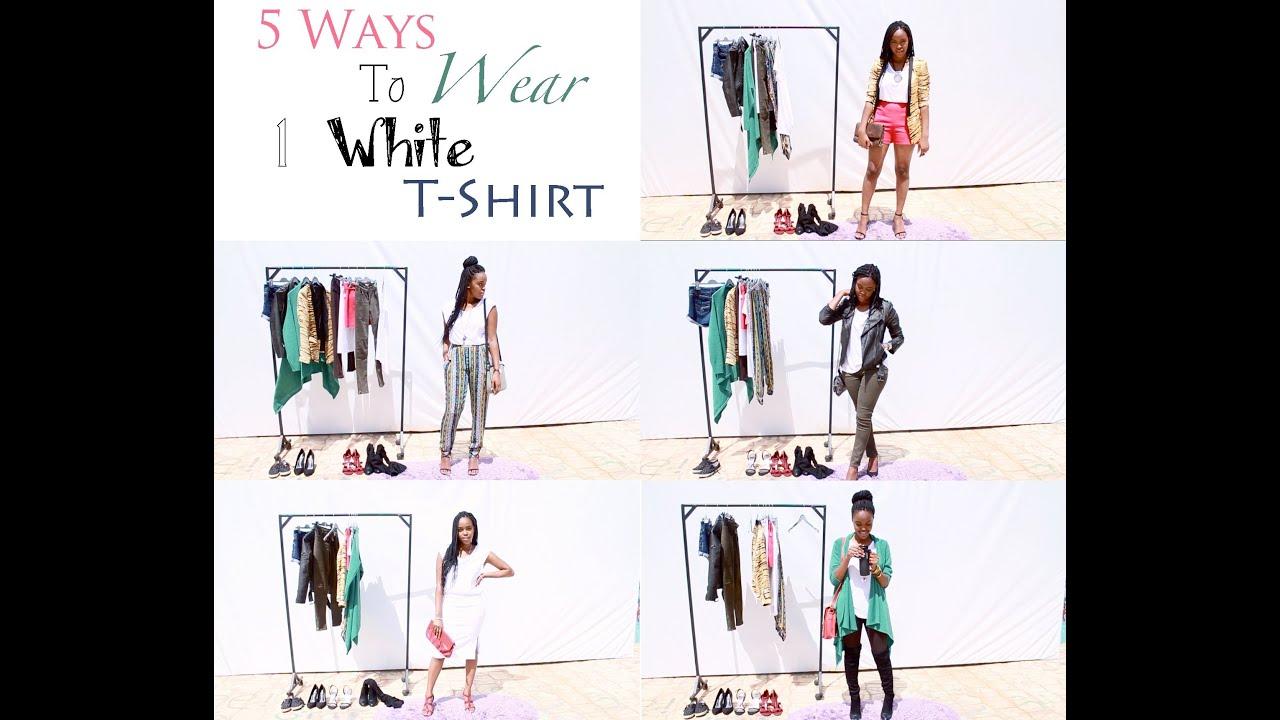 5 Ways to Wear 1 White T-Shirt!