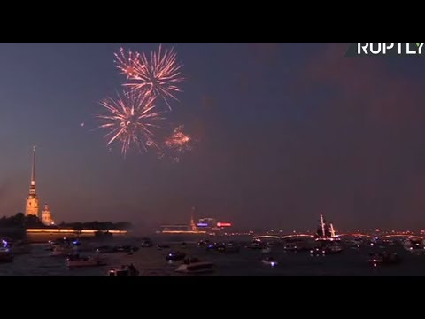 LIVE: St. Petersburg marks Russia's Navy Day with fireworks