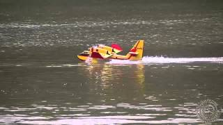 Crash Fail of Canadair CL-215 Water Bomber Amphibious RC Float Plane