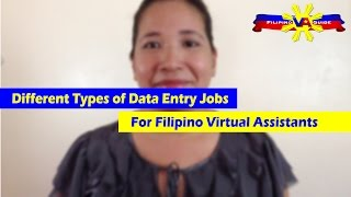 VA Tip of the Day - Different Types of Data Entry Jobs for Filipino Virtual Assistants