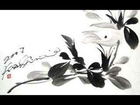Morning Glory or Bell Flower Sumie Painting - 朝顔 -