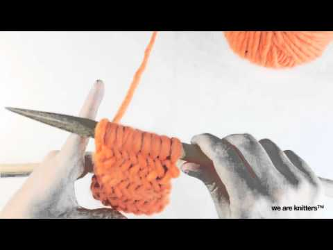 Strickmuster - Fischgratmuster stricken | WE ARE KNITTERS - YouTube