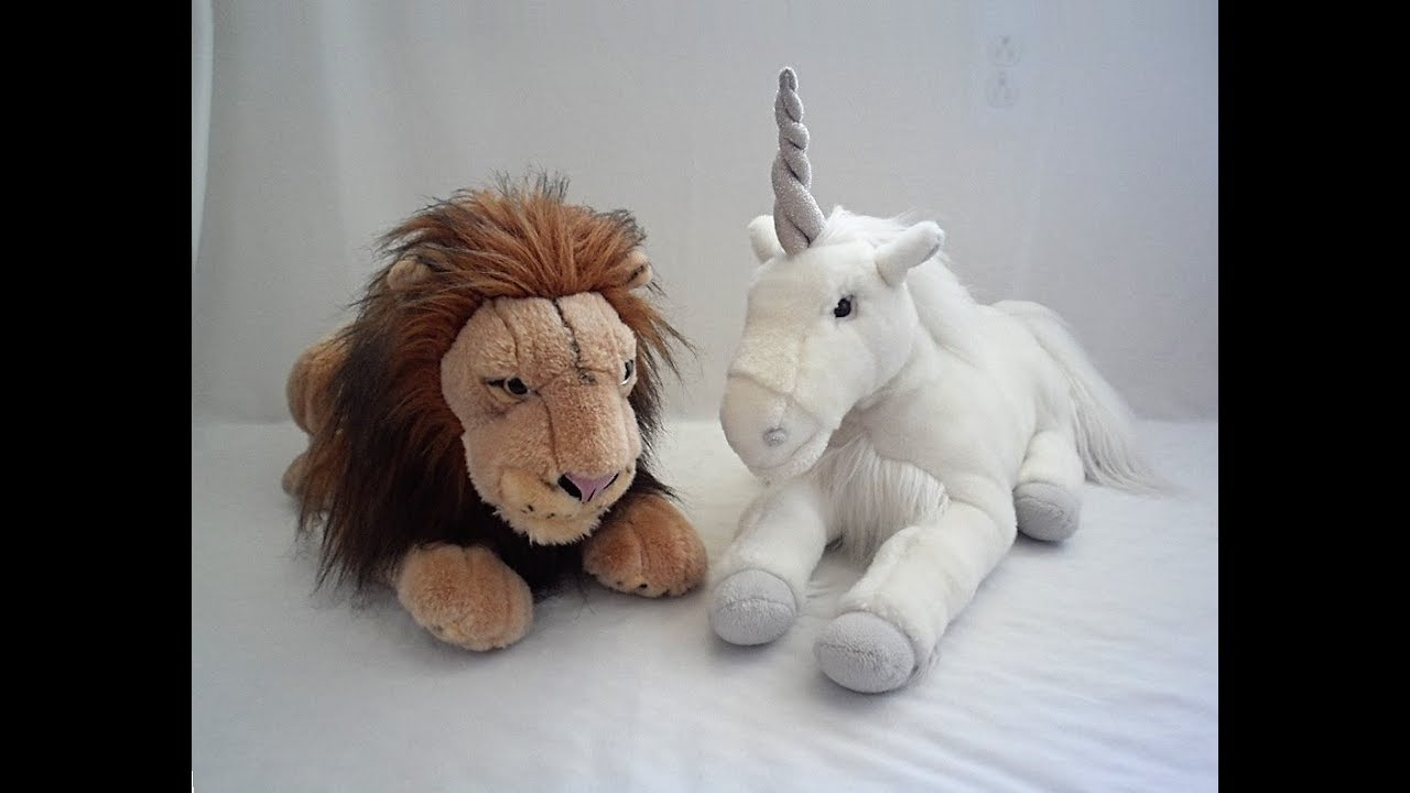 Scary Squeeze Stuffed Animals, Aslan And Unicorn Narnia Plush Review Youtube