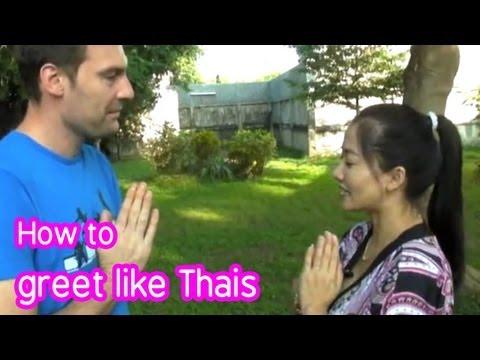 Thai culture : How to greet in Thai, episode 1