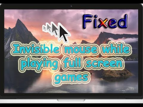 How to fix Invisible cursor while playing full screen games | 3 different methods