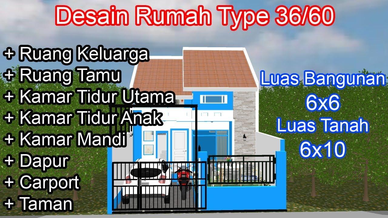 Rumah Subsidi Type 36 60 Desain Dan Renovasi Rumah Kpr Type 36 60 Terbaru Youtube