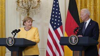 Angela Merkel à la Maison Blanche : des adieux amicaux et quelques désaccords