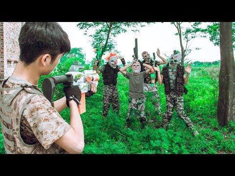 MASK Nerf War : Special Warrior Use Skill Nerf Guns Fight Dangerous Criminals Mask