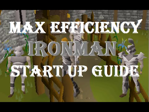 Max Efficiency Ironman Start Up Guide