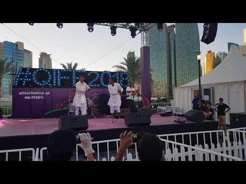 Qatar Food Festival 2018 / Ethiopian cultural Guragigna Dance / Efrem & Kalab