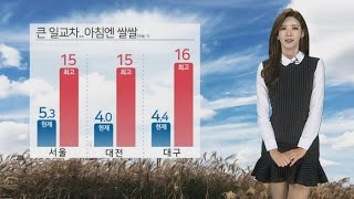[날씨] 입시한파 없지만 서쪽 먼지↑…일교차 유의 / 연합뉴스TV (YonhapnewsTV)