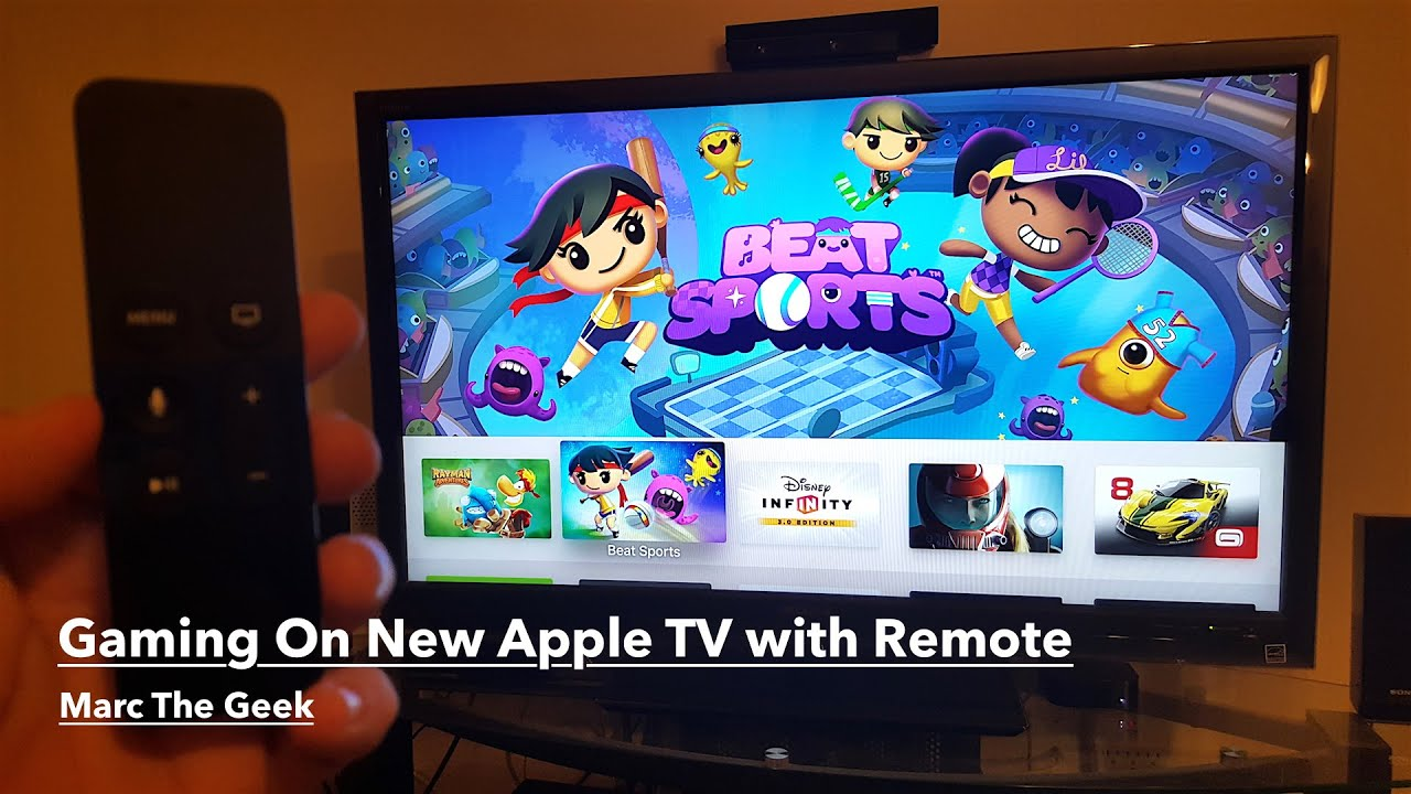 Gaming On New Apple TV 4th Gen with Remote - YouTube