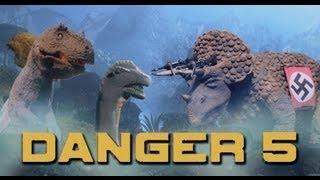Danger 5 Stop Motion Animated Dinosaur Scenes