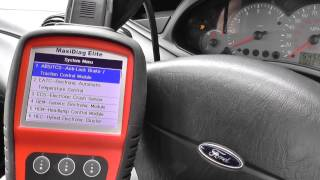 Autel MD802 SRS Airbag Warning Light Diagnosed
