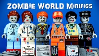 The LEGO Movie Zombie World KnockOff Minifigures with Emmet Nurse Police Manager thumbnail