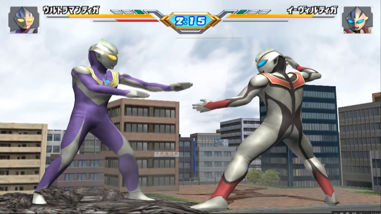 Sieu Nhan Game Play | Ultraman Tiga Đấu với Evil Tiga | Game Ultraman Fiting eluvation 3