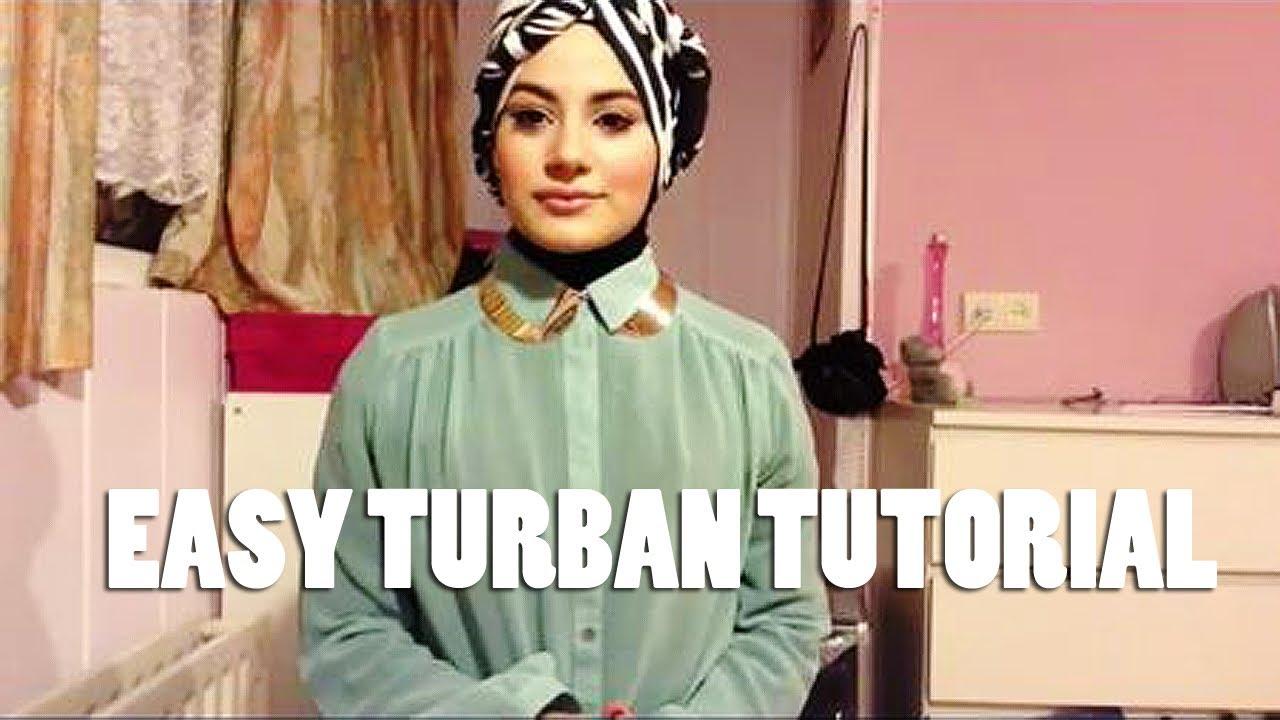 Easy Turban Style Hijab Tutorial Youtube