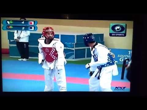 2016 south asian games Taekwondo match afgansitan vs pakistan