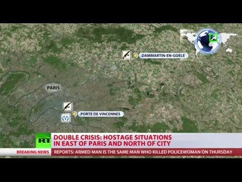 Two hostage situations unfold in France (FULL HOUR)