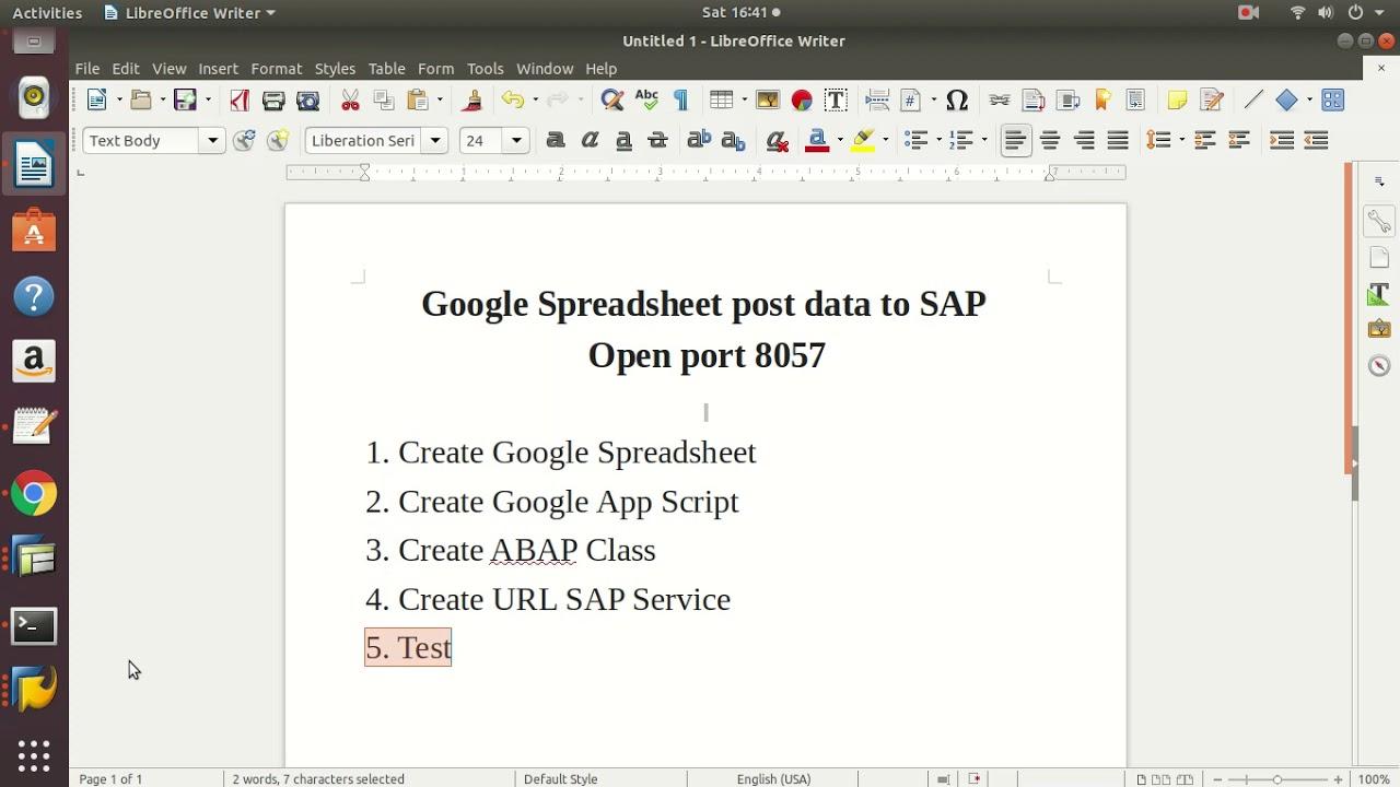 Download Google Spreadsheet post data to SAP