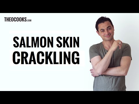 Generate Crispy fish skin (how to cook crispy salmon skin) - Salmon Crackling By Theo Michaels Images