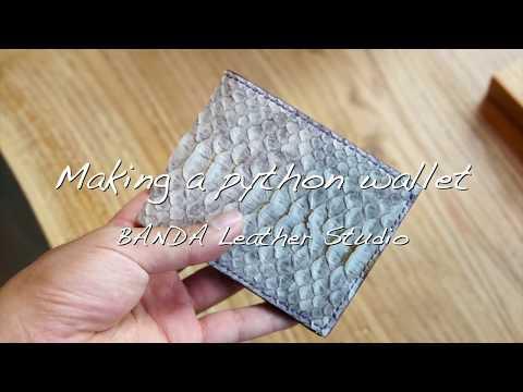 [Leather Craft 가죽공예] Making a python wallet,  파이톤 가죽 반지갑 만들기