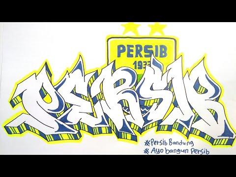 Cara Membuat Graffiti Persib Bandung Youtube