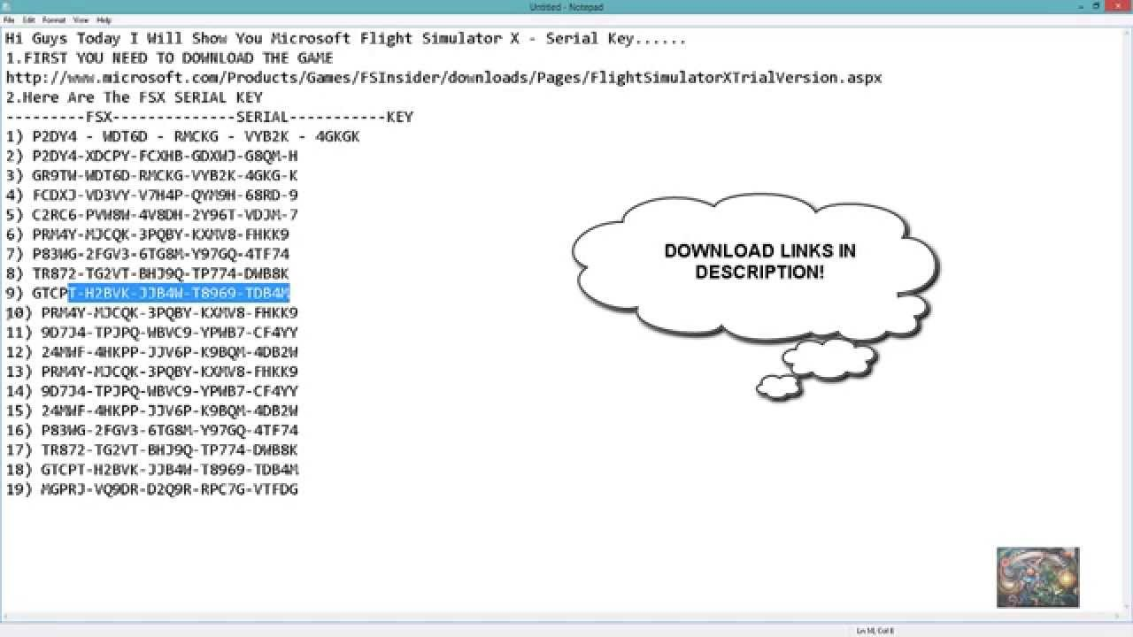 Microsoft Flight Simulator Serial Key