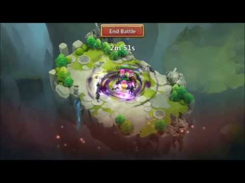 Lost Realm Level 23 Game Play All Kinds Of Hero Battles Castle Clash