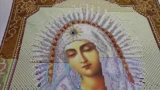 Вышивка бисером. Икона Божией Матери