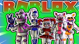 How To Voice Act Minecraft Five Nights At Freddy's in Roblox Circus Baby's Pizza World Roleplay