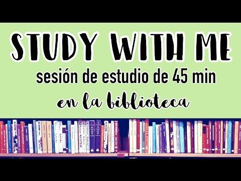 Sesión de estudio en la biblioteca · 45 minutos (sin música, ruido ambiente) #1 | Christine Hug