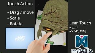 AR Vuforia - Touch de les Déplacer, redimensionner et faire Pivoter avec le Lean Touch (Version: 1.1.1 - Oct 06, 2016)