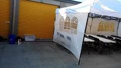 10x20 canopy w walls rental in San Antonio tx