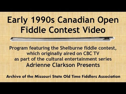 Shelburne Canadian Open Fiddle Contest Video circa 1990