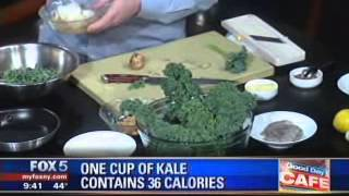 Chef Jesse Schenker Of Recette At Fox Good Day Ny Making His Kale Salad