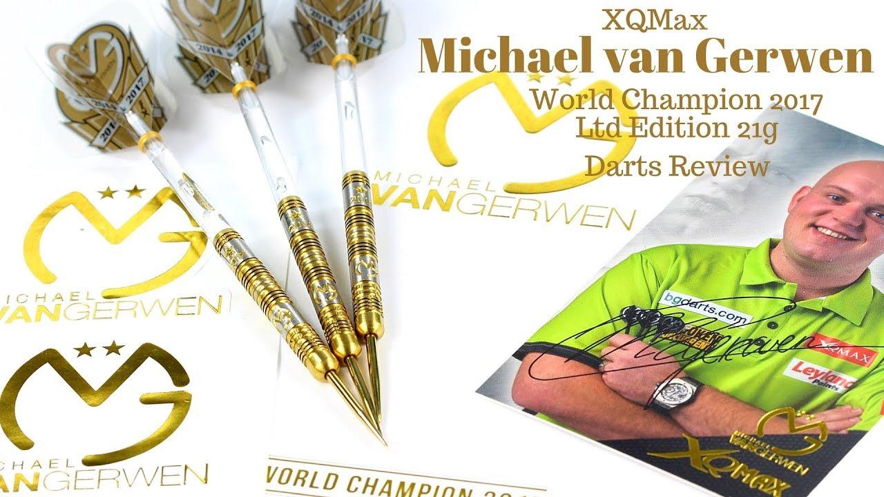 XQMAX World Champion 2017 Michael van Gerwen Soft Dart 90/% Tungsten Limited Edition 18g