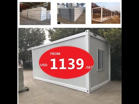 flat pack container house installation video