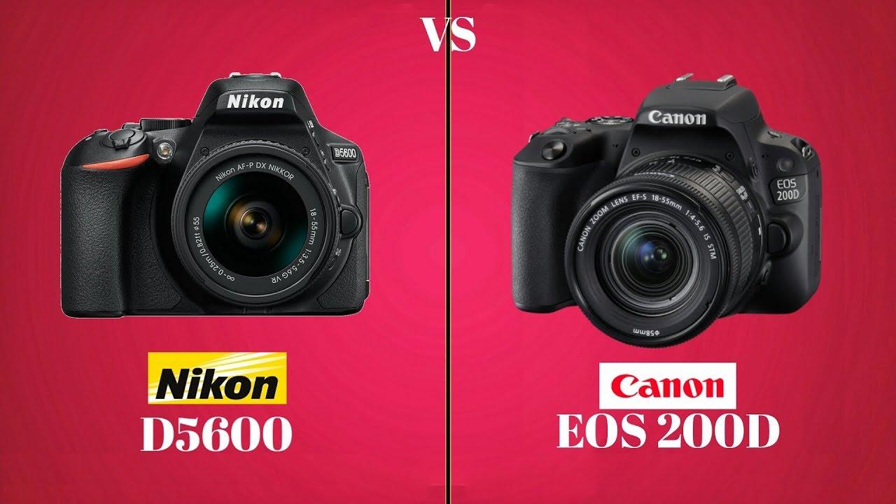 NIKON D5600 vs CANON 200D | Best Budget Camera | Price & Full Specification  | EZ EMON