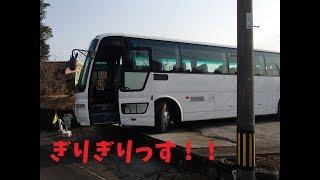 """""""個人大型バス""""駐車場の奥に移動してスロープに乗せる動画""""V8ガロガロ"""""""