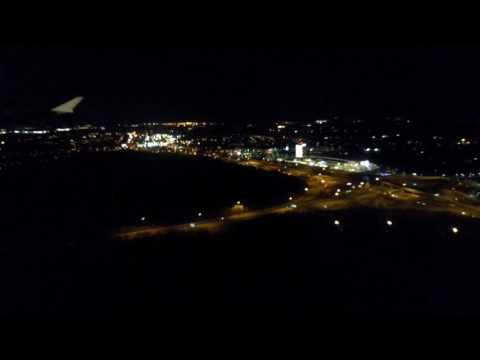 Night landing in Washington Reagan Airport