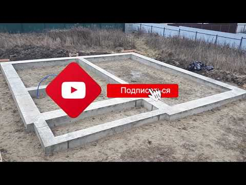 Свайно-ростверковый фундамент для дома из газобетона. Раменский район.