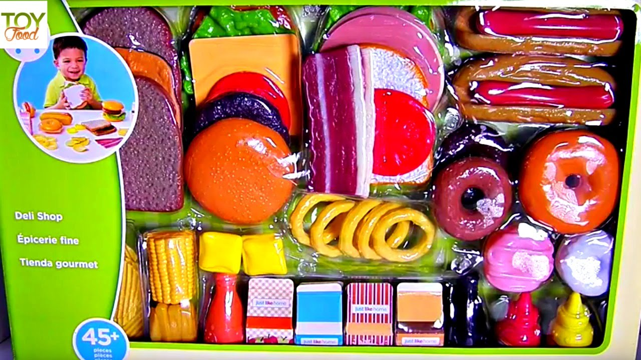 Just Like Home Toy Food : Toy food just like home deli fun youtube
