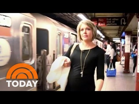 Dylan Dreyer Tests If Subway Riders Will Give Up Seats To Pregnant Women | TODAY