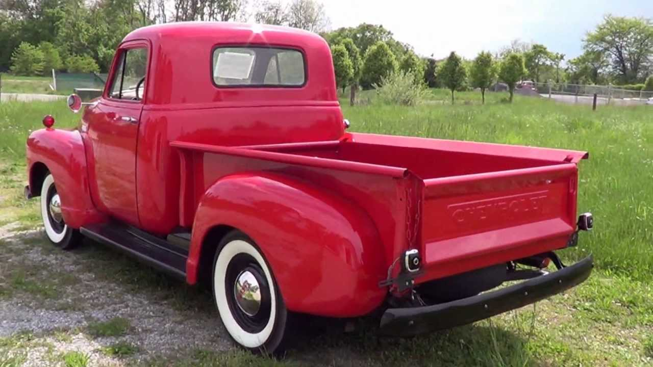 1952 52 chevrolet 3100 short bed pickup sold youtube. Black Bedroom Furniture Sets. Home Design Ideas