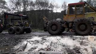 PROENGIL    Przyczepa leśna z napędem mechanicznym + c 360 vs. LKT 81T
